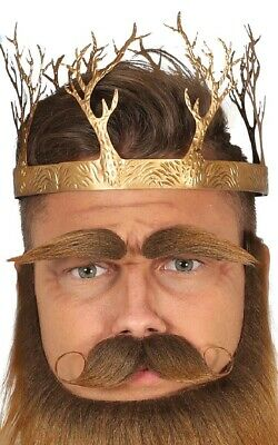 Mens Ladies Gold Medieval Party Crown Hat Fancy Dress Costume Outfit Accessory • 9.99£