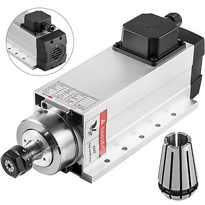 CNC Square 4kw Air-cooled Spindle Motor ER20 Mill Grind 4 Bearing High Speed • 179.98£