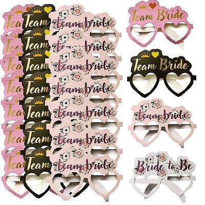 8,16,24 Team Bride To Be Hen Party Card Glasses Accessories Tribe Squad Favours • 1.99£