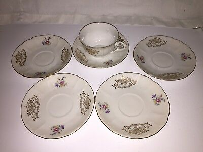 $2.25 • Buy M Z Cechoslovakia China  Cup And 5 Saucers
