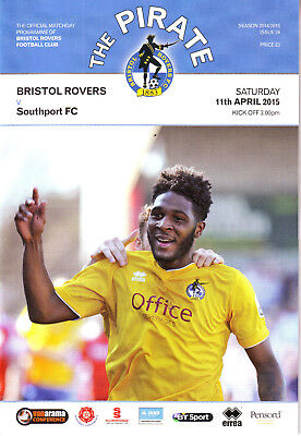 £1.25 • Buy Bristol Rovers V Southport Fc 11 Apr 2015 Non League Days Exc Cond.