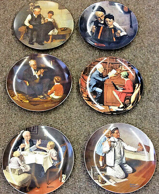 $ CDN17.34 • Buy 6 Vintage Knowles Wall Plates From Norman Rockwell's Heritage Collection