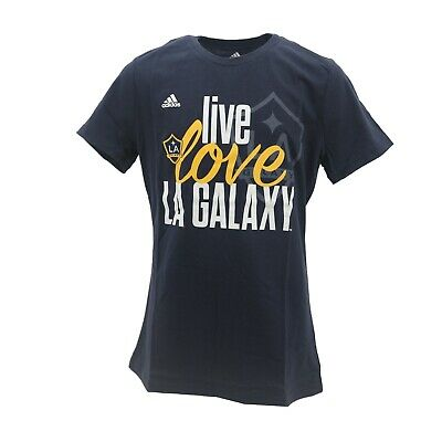 LA Galaxy Official MLS Adidas Apparel Kids Youth Girls Size T-Shirt New Tags • 9.37£