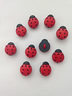 Ladybirds Summer Buttons Baby Knitting Matinee All Crafts Cake Decorations  • 3.50£