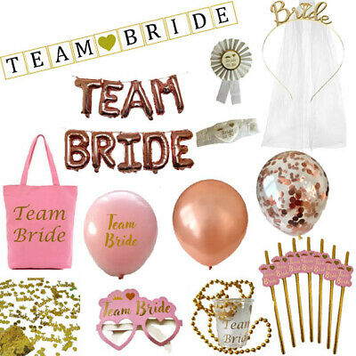 £2.99 • Buy Pink & Gold - Team Bride Hen Party Night Do Bride To Be Sashes Accessories Lot