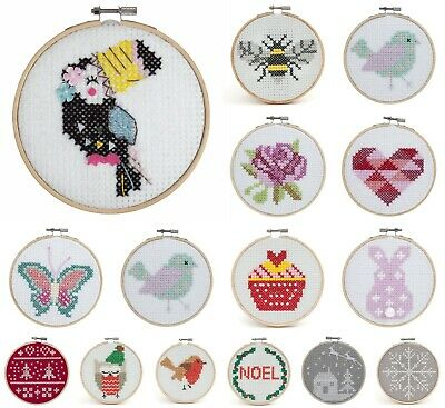£9.99 • Buy Counted Cross Stitch Kit With Hoop - Beginners/Childrens Starter - Trimits Felt