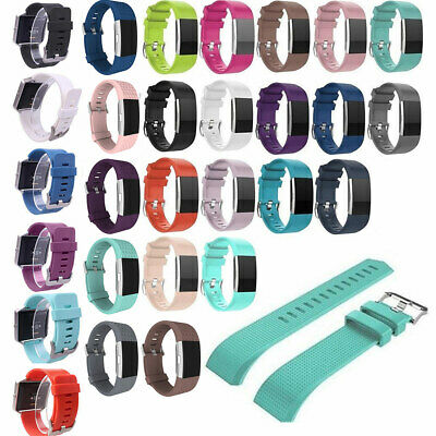 AU3.38 • Buy FOR Fitbit CHARGE 2 Replacement Silicone Rubber Bands Strap Wrist Bands Bracelet
