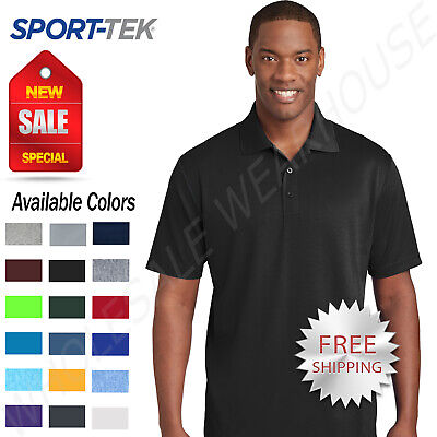 $13.18 • Buy NEW Sport-Tek Mens Cool Dry Fit Wicking Performance Golf Polo T-Shirt ST640