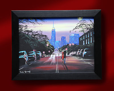 £749.99 • Buy Original Fine Art Oil Painting By Pete Rumney 'heading For The City' Cityscape