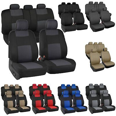 $23.50 • Buy Auto Seat Covers For Car Truck SUV Van - Universal Protectors Polyester 8 Colors