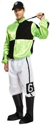 Mens Green Jockey Horse Racing Uniform Sports Stag Do Fancy Dress Costume Outfit • 26.99£