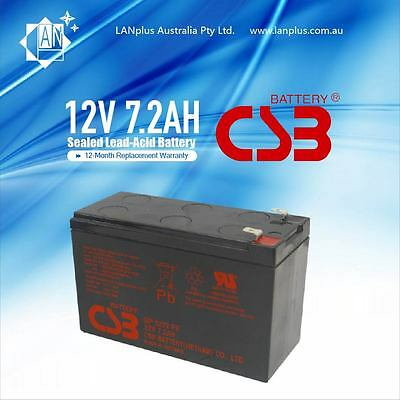 AU34.49 • Buy CSB GP1272 F2 12V 7.2Ah Rechargeable Battery For NBN Back Up Power Supply Alarm