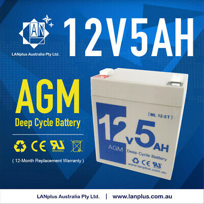 AU28.95 • Buy New 12V 5AH SLA AGM Battery Replacement 4 Razor PowerRider 360 Electric Tricycle