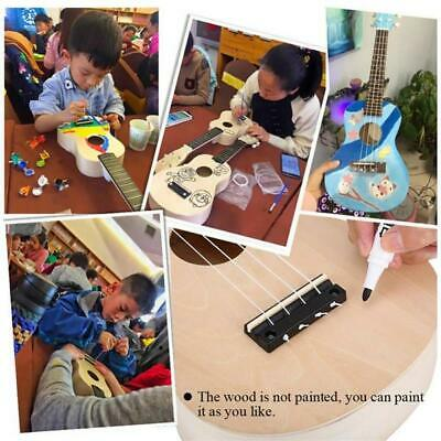 AU19 • Buy Ukulele DIY Kit Miniature UKE Guitar Instrument Wooden Paint Build VAC OOSH NEW