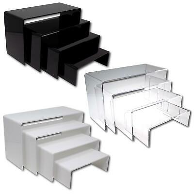 £12.20 • Buy Nesting Plinths Acrylic Retail Riser Counter Exhibition Display Stand Shelves