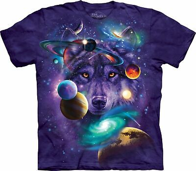 £25.99 • Buy WOLF OF THE COSMOS The Mountain T Shirt Solar System Space Unisex
