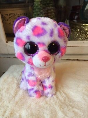 709ee948815 Ty Beanie Boos SERENA 6 Justice Exclusive No Tag Snow Leopard Rare Plush •  16.95