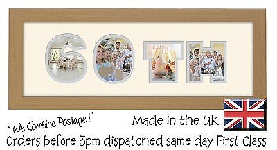 £12.99 • Buy 60th Birthday Photo Frame Double Mounted Quality Gift 854A By Photos In A Word