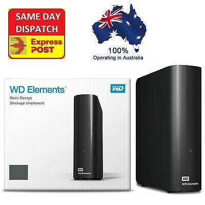 AU340 • Buy Western Digital WD Elements 14TB 12TB 10TB 8TB 4TB USB 3.0 External Hard Drive