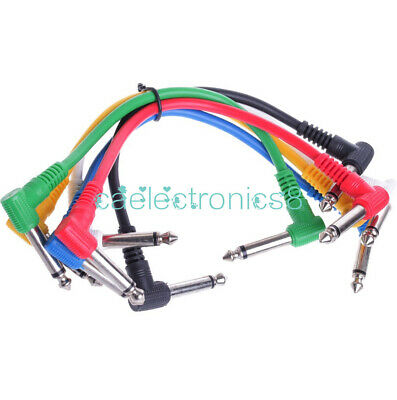 $ CDN6.42 • Buy 6PCS Colorful Angled Plug Audio Leads Patch Cables For Guitar Pedal Effect CA