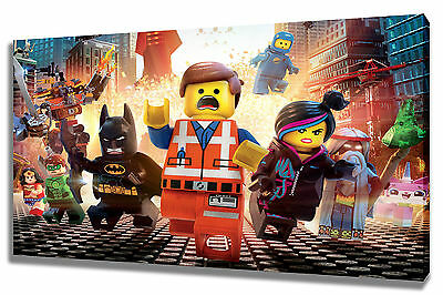 £24.99 • Buy Large Wall Art Canvas Picture Print Of Lego Movie Framed
