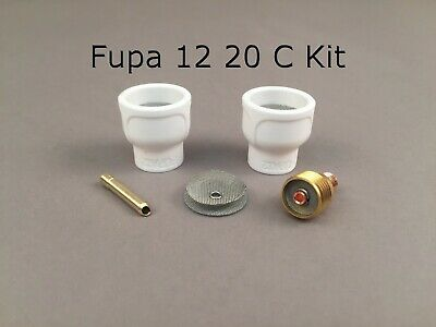 AU60.54 • Buy FUPA 12 Ceramic Cup Complete Kit For 9 & 20 Series TIG Torches