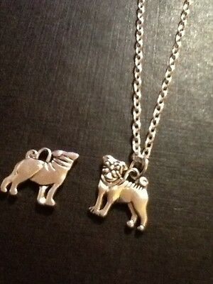 £1.95 • Buy Pug Necklace Silver Plated 18 Inch Chain