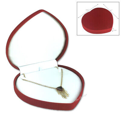 $14.75 • Buy Velvet Jewelry Store Style XL Necklace Pearl Red Heart Gift Box Necklace Box