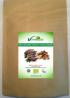 £18.25 • Buy Raw Organic Criollo Cacao Beans 1kg