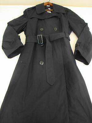 9c73afe60cba0 DSCP Military Double-Breasted Black Trench Coat 42R - EXCELLENT Condition •  79.99