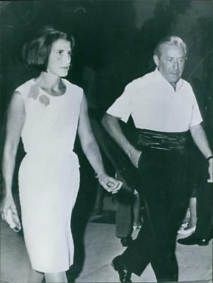 $ CDN16.81 • Buy Stavros Niarchos With Eugenia Livanos Walking Together. - Vintage Photo