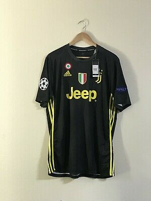 41a3487c5c4 Cristiano Ronaldo Juventus New UCL Third Jersey 18 19 S M L