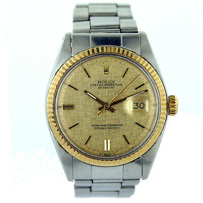 $ CDN4922.97 • Buy Rolex Datejust 1601 Gold Dial/bezel 1971 Holes Case Stainless Steel Mens Watch
