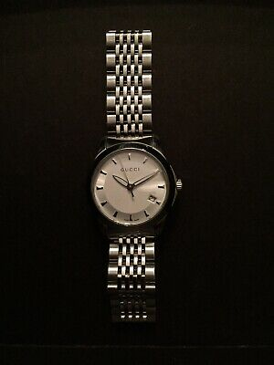77e98588a98 Gucci Women s Stainless Steel 27 Mm Small G Timeless Watch White • 64.00