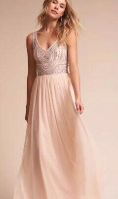 6e442d316209 Anthropologie BHLDN Oyster Sterling Gown Maxi Dress Wedding Size 4 $175.00  • 100.00$
