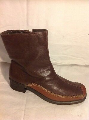 £24 • Buy Rohde Brown Ankle Leather Boots Size 4.5