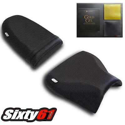 $180 • Buy Suzuki GSXR 600 Seat Cover With Gel 2001-2003 Luimoto Front Rear Black Carbon