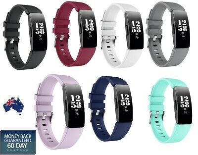 AU6.99 • Buy Fitbit Inspire HR Replacement Silicone Watch Sports Band Buckle Strap Wristband