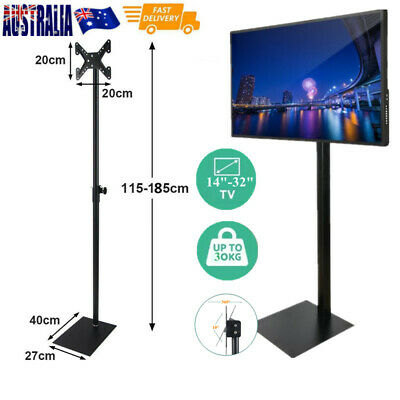 AU74 • Buy 1.85m TV Floor Stand, 14-32  LED LCD TV Wall Mount Bracket, Mobile TV Stand