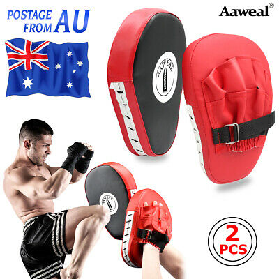 AU25.99 • Buy Curved Focus Kick Pads Punching Target Martial MMA Boxing Mitts Training Gloves