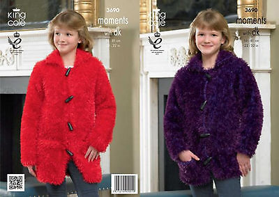 £3.65 • Buy King Cole Moments With DK Knitting Pattern 3690:Jacket & Coat