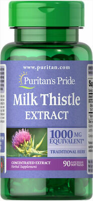 $8.74 • Buy Milk Thistle Extract 1000mg., 90 Softgels  Concentrated Extract