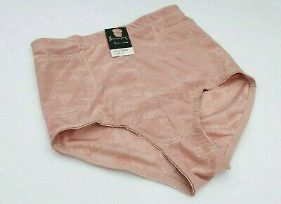 $12.99 • Buy HIGH CUT Shiny Nylon Briefs Panties Girdle 2 Pockets Pink SISSY L VTG