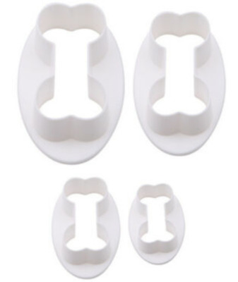 4 Piece Dog Bone Biscuit Cookie Cutter Fondant Baking Pastry Cake Mould Set • 3.95£
