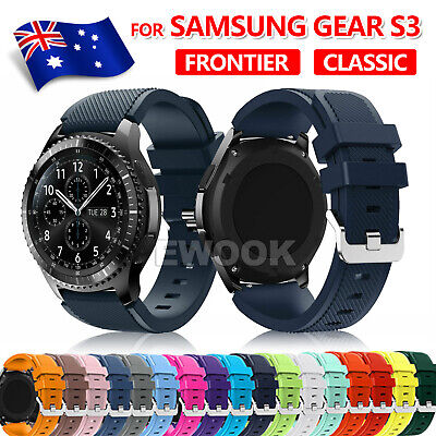 AU4.95 • Buy For Samsung Gear S3 Frontier Classic Fashion Sports Silicone Bracelet Strap Band