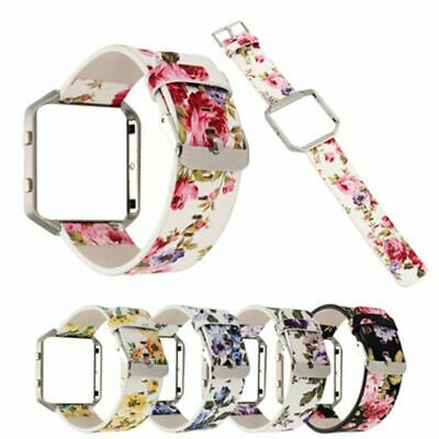 $ CDN22.44 • Buy Replacement Leather Wristband Strap Band For Fitbit Blaze Watchband With Frame