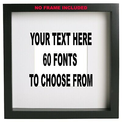 £2.99 • Buy Customised Box Frame Sticker Decal 60 FONTS Quote 3 Sizes DIY  Design Your Own