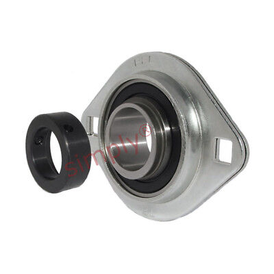£11.18 • Buy SAPFL205 Oval 2 Bolt Pressed Steel Bearing Housing With 25mm Collar