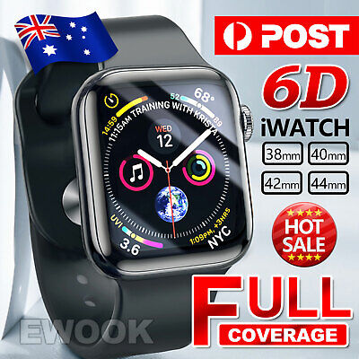AU5.55 • Buy For Apple Watch 4 3D Tempered Glass COVER Screen Protector IWatch 38/42/40/44mm