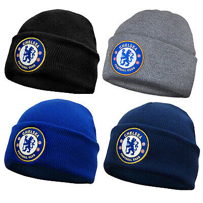 Chelsea FC Official Football Gift Kids Knitted Bronx Beanie Hat Crest • 5.99£